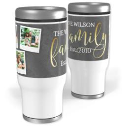 Thumbnail for Stainless Steel Tumbler, 13oz with Golden Family design 1
