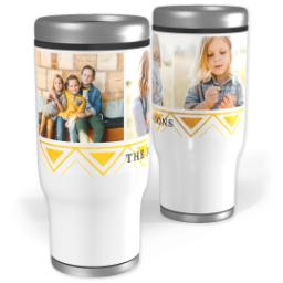 Thumbnail for Stainless Steel Tumbler, 13oz with Gold Tribal Details design 1