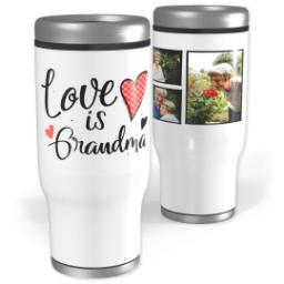 Thumbnail for Stainless Steel Tumbler, 14oz with Grandma Hearts design 1