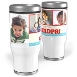 Thumbnail for Stainless Steel Tumbler, 13oz with Grandpa design 1