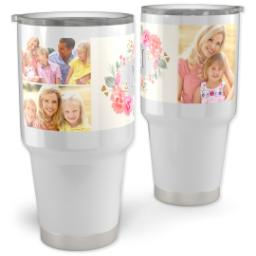 Thumbnail for Vacuum Travel Tumbler, 30oz with Hand-Painted Florals design 1