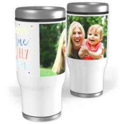 Thumbnail for Stainless Steel Tumbler, 14oz with Happiness Is Unique design 1