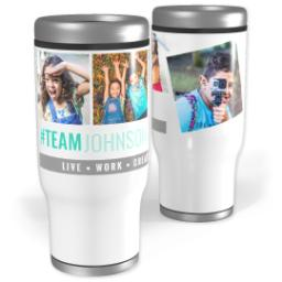 Thumbnail for Stainless Steel Tumbler, 13oz with #TeamFamily design 1