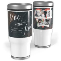 Thumbnail for Stainless Steel Tumbler, 14oz with Heart Of The Home Wood design 1