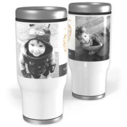 Thumbnail for Stainless Steel Tumbler, 13oz with Heart Wishes design 1