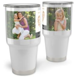 Thumbnail for 30oz Vacuum Travel Tumbler with Heart Wishes design 1