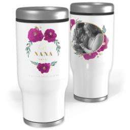 Thumbnail for Stainless Steel Tumbler, 13oz with Heavenly Flowers Nana design 1