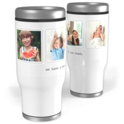 Thumbnail for Stainless Steel Tumbler, 14oz with Hero Dad design 1