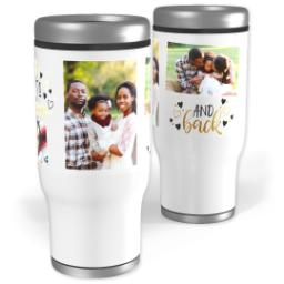 Thumbnail for Stainless Steel Tumbler, 14oz with Journey Of Love design 1