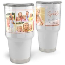 Thumbnail for Vacuum Travel Tumbler, 30oz with Leave A Little Sparkle design 1