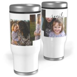 Thumbnail for Stainless Steel Tumbler, 14oz with Let Me See You Smile design 1