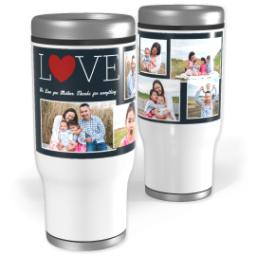Thumbnail for Stainless Steel Tumbler, 14oz with Love Collage design 1