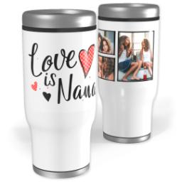 Thumbnail for Stainless Steel Tumbler, 14oz with Love is Nana design 1