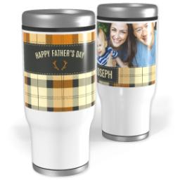 Thumbnail for Stainless Steel Tumbler, 13oz with Mad About Plaid design 1