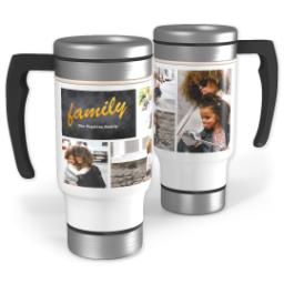 Thumbnail for Stainless Steel Photo Travel Mug, 14oz with Modern Chalkboard design 1