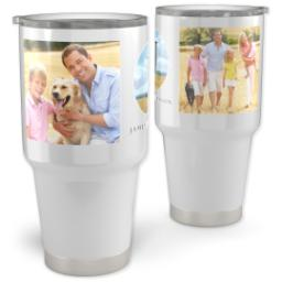 Thumbnail for Vacuum Travel Tumbler, 30oz with Modern Landscape design 1
