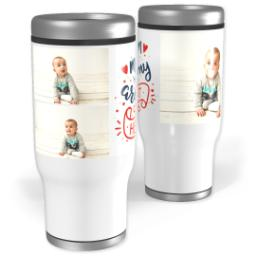 Thumbnail for Stainless Steel Tumbler, 14oz with Mom Heart design 1