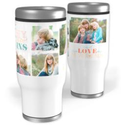 Thumbnail for Stainless Steel Tumbler, 14oz with Never Ending Love design 1