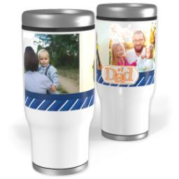 Thumbnail for Stainless Steel Tumbler, 14oz with Number 1 Dad design 1