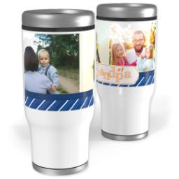 Thumbnail for Stainless Steel Tumbler, 13oz with Number 1 Grandpa design 1