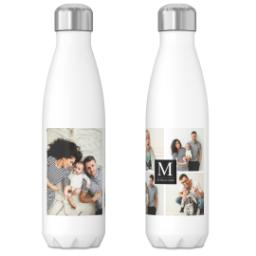Thumbnail for 17oz Slim Water Bottle with Our Monogram Black design 3