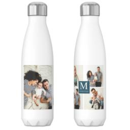 Thumbnail for 17oz Slim Water Bottle with Our Monogram Blue design 3