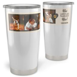 Thumbnail for Vacuum Travel Tumbler, 20oz with Pet Rescue design 1