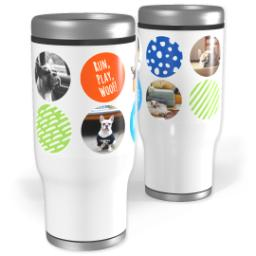 Thumbnail for Stainless Steel Tumbler, 13oz with Ring Around The Puppy design 1