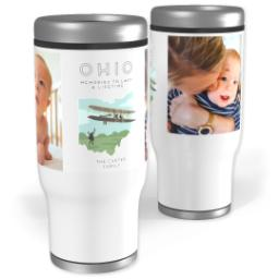 Thumbnail for Stainless Steel Tumbler, 13oz with Scenic View Ohio design 1