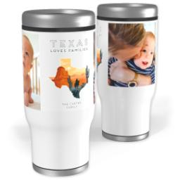 Thumbnail for Stainless Steel Tumbler, 13oz with Scenic View Texas design 1
