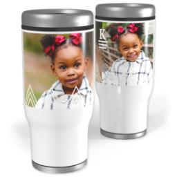 Thumbnail for Stainless Steel Tumbler, 14oz with Triangle Details design 1