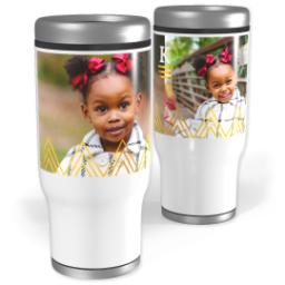 Thumbnail for Stainless Steel Tumbler, 14oz with Triangle Details design 2