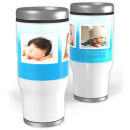 Thumbnail for Stainless Steel Tumbler, 14oz with Watercolor Blue design 1