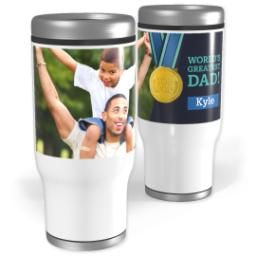 Thumbnail for Stainless Steel Tumbler, 13oz with Winning Dad design 1