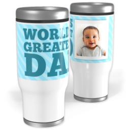 Thumbnail for Stainless Steel Tumbler, 14oz with World's Greatest Dad design 1